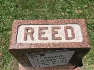 Polished Raised Lettering Style in Red Granite